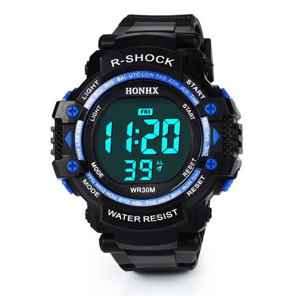 Мужские спортивные часы наружные lectronic электронные наручные водонепроницаемые