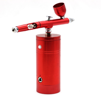 Multi Purpose Airbrush Air Compressor Kit Dual Action 0.3mm Nozzle Paint Spray Gun Kit Portable Air Brush Set Battery Charger