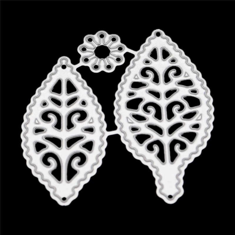 3D Hoa Cắt Kim Loại Chết Ren Cánh Hoa Tiêu Bản Cho DIY Thêu Sò Album Khắc Thẻ Giấy Deco Thủ Công Chết Vết Cắt