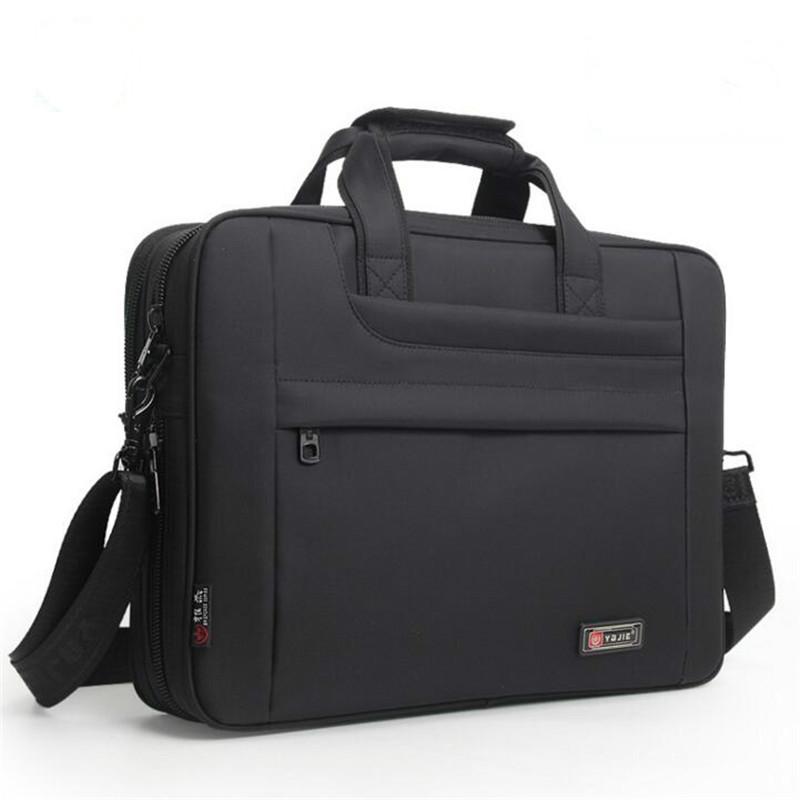 2019 New Men Business Briefcase Laptop Computer Bags Women Men's Office work meeting Handbags Male Waterproof Nylon Travel Bag