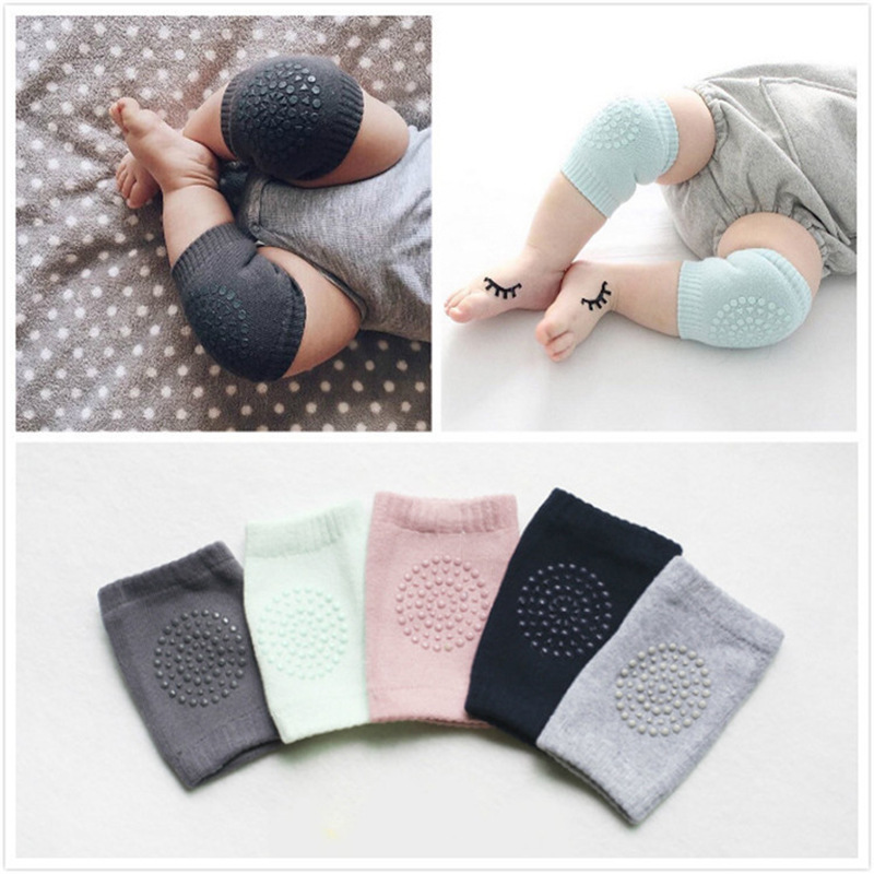 0-24 Months Babys Non-slip Baby Kneecap Summer Children's Cotton   Baby Crawling Knee Pads Terry Thick Mesh Breathable