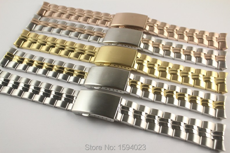20mm T101410A T101410 T101417 New Watch Parts Male models Golden Watch Band Solid Stainless Steel band