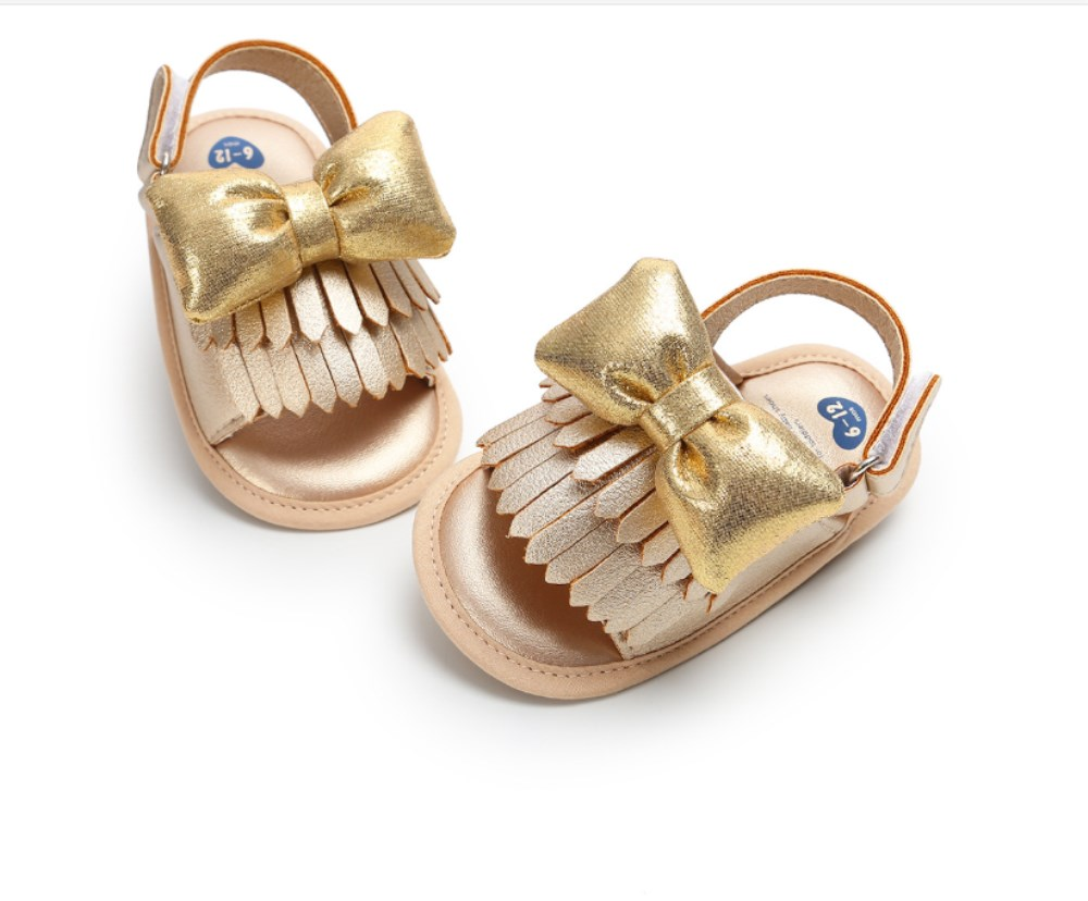 Pudcoco New Brand Newborn Kid Baby Girl Bow-knot Sandals Summer Casual Crib Shoes First Prewalker