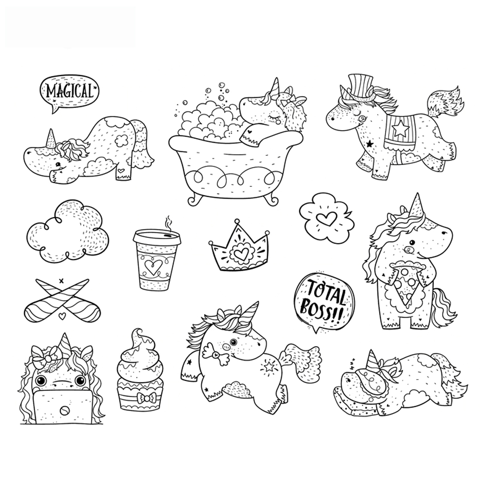unicorn Transparent Clear Silicone Stamp/Seal for DIY scrapbooking/photo album Decorative clear stamp