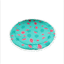 900mm Baby Infant Play Mats Kids Crawling Carpet Floor Rug Fringed Lace Watermelon Blanket Cotton Game Pad Children Room Decor(China)