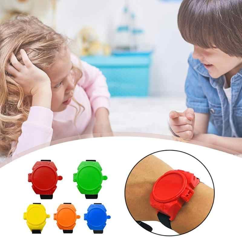 Novedad reloj de juguete lanzador de discos voladores reloj de disparo niños bromas prácticas PNLO