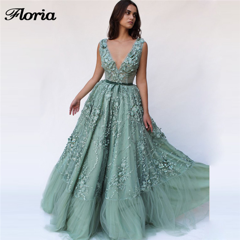Arabic Embroidery Formal   Evening     Dresses   Muslim Turkish Long Party Gowns Abendkleider African V Neck Prom   Dress   Robe de soiree
