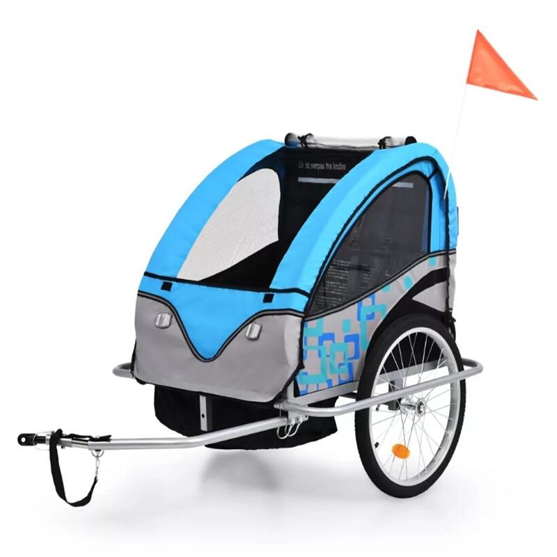 2 In 1 Kids' Bicycle Trailer &Amp Stroller Water Resistant