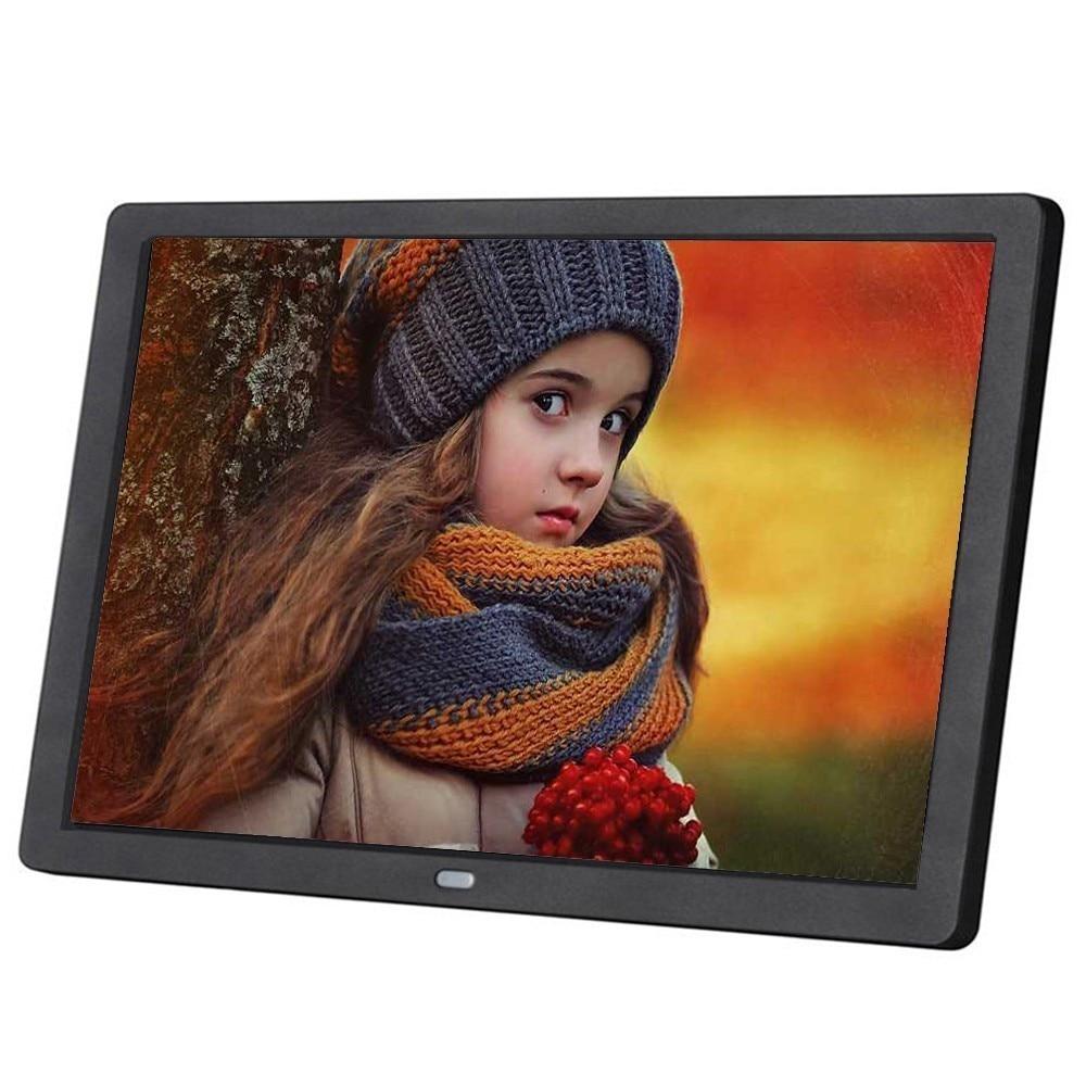 Nova 10 polegada Tela HD LED Backlight 1024*600 Digital Photo Frame Álbum de Fotos Eletrônico Música Movie Função Completa bom Presente