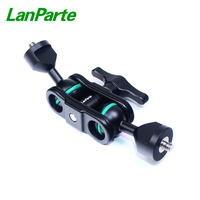 LanParte Ultra Light Magic Arm diving arm clamp with Double Ballheads of 1/4 Screw