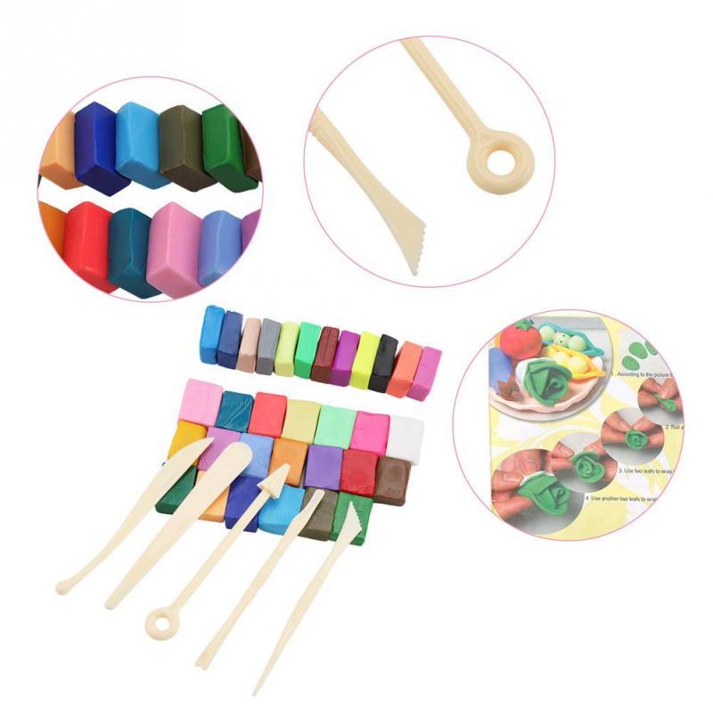 Onpartijdig Polymeer Klei Tool Set Diy Polymeer Klei Tool 32 Kleur Oven Bakken Met 5 Beeldhouwen Tools Pakket Speciale Speelgoed 。 Nourishing The Kidneys Relieving Rheumatism