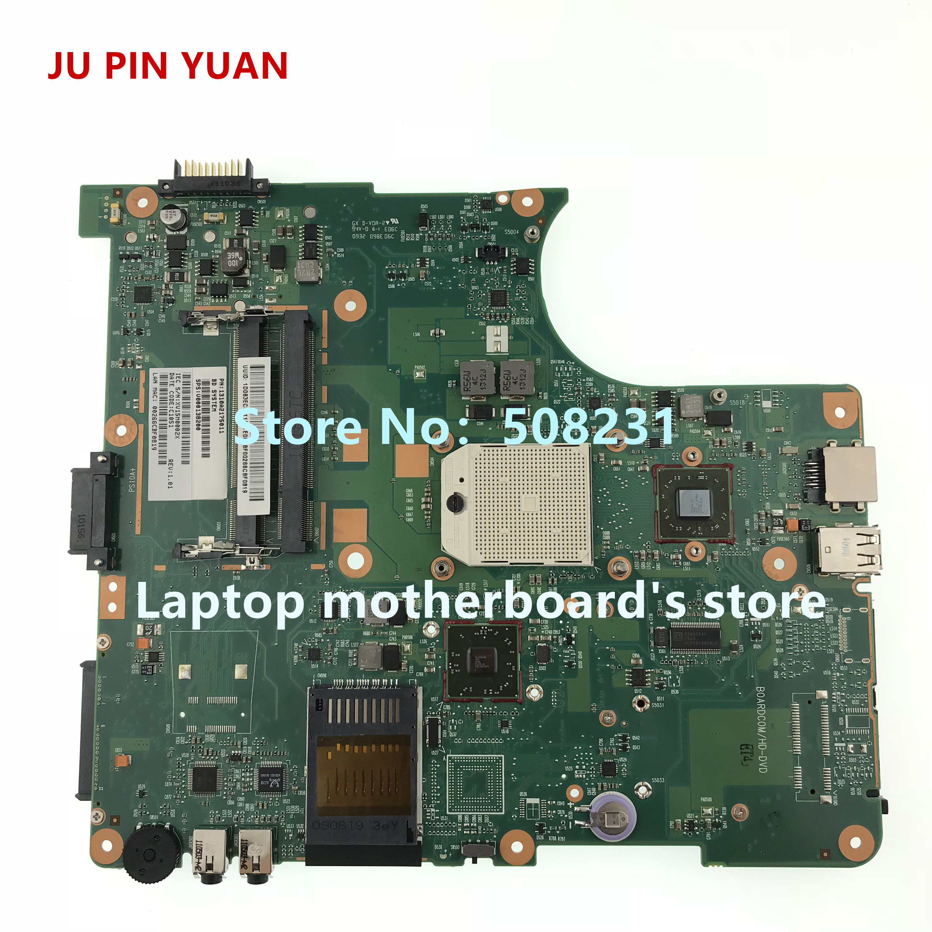 JU PIN YUAN V000138200 Mainboard For Toshiba Satellite L305D L300D Laptop Motherboard 6050A2175001 Fully Tested