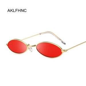 Retro Oval Red Sunglasses Men Women Brand Designer Vintage Metal Frame Sun Glasses Male Female Lunette De Soleil Homme UV400(China)