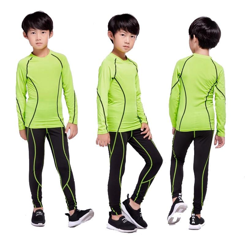 Children rashgard kit 2 piece tracksuit Children's jogging training clothes compression Children's thermal underwear base layer