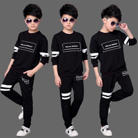 2019 Spring Fall Children's Clothing Sets Boys Tracksuit Clothes New Big Kids Sports Suit Long Sleeve T shirt + Pants 2 Pcs X104