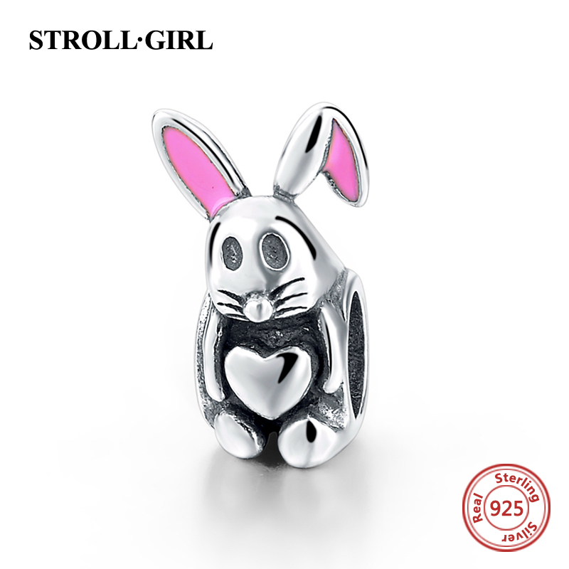 100 Authentic 925 Sterling Silver cute animal Charms Beads Fits Pandora Bracelets bangle for Fashion Fine Jewelry Making gift in Beads from Jewelry Accessories
