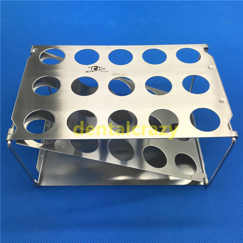 Best Foldable autoclavable syringe racks display racks 20cc and 50cc Stainless steel