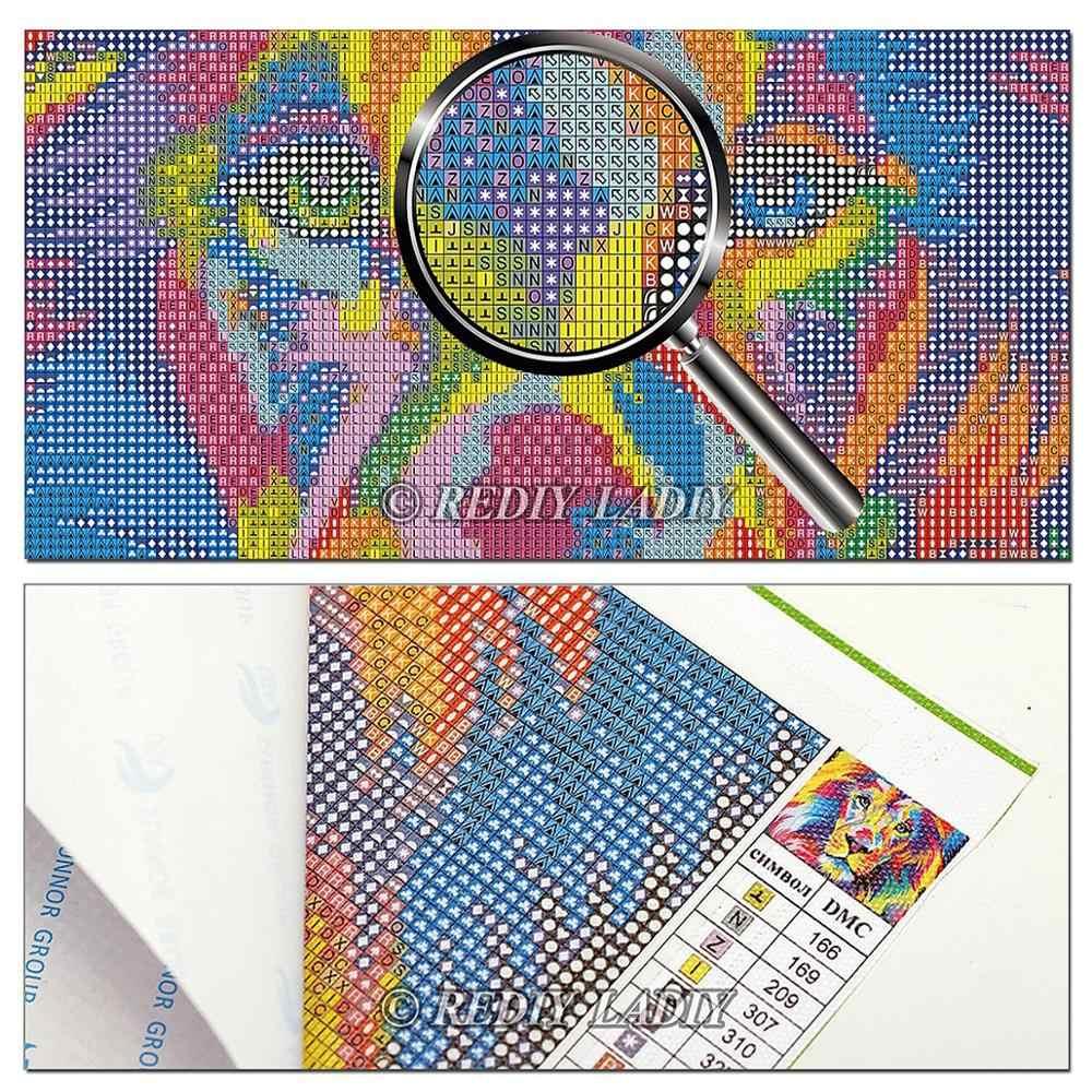 יהלומי ציור Plein יהלומי צלב תפר צבעוני צבע מלא כיכר/עגול יהלומי פסיפס דפוס Rhinestones רקמת אמנות