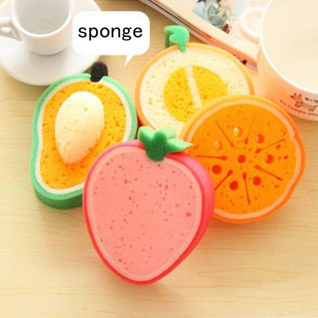 4 pz Bella Del Bambino Spugna Da Bagno Per Il Corpo di Pulizia di Frutta Carino