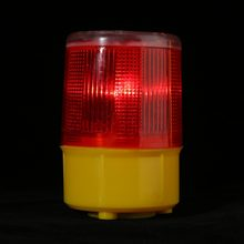 2.5W 3V Solar LED Emergency Warning Flash Light Alarm Lamp Traffic Road Boat Red Light 2019 New(China)