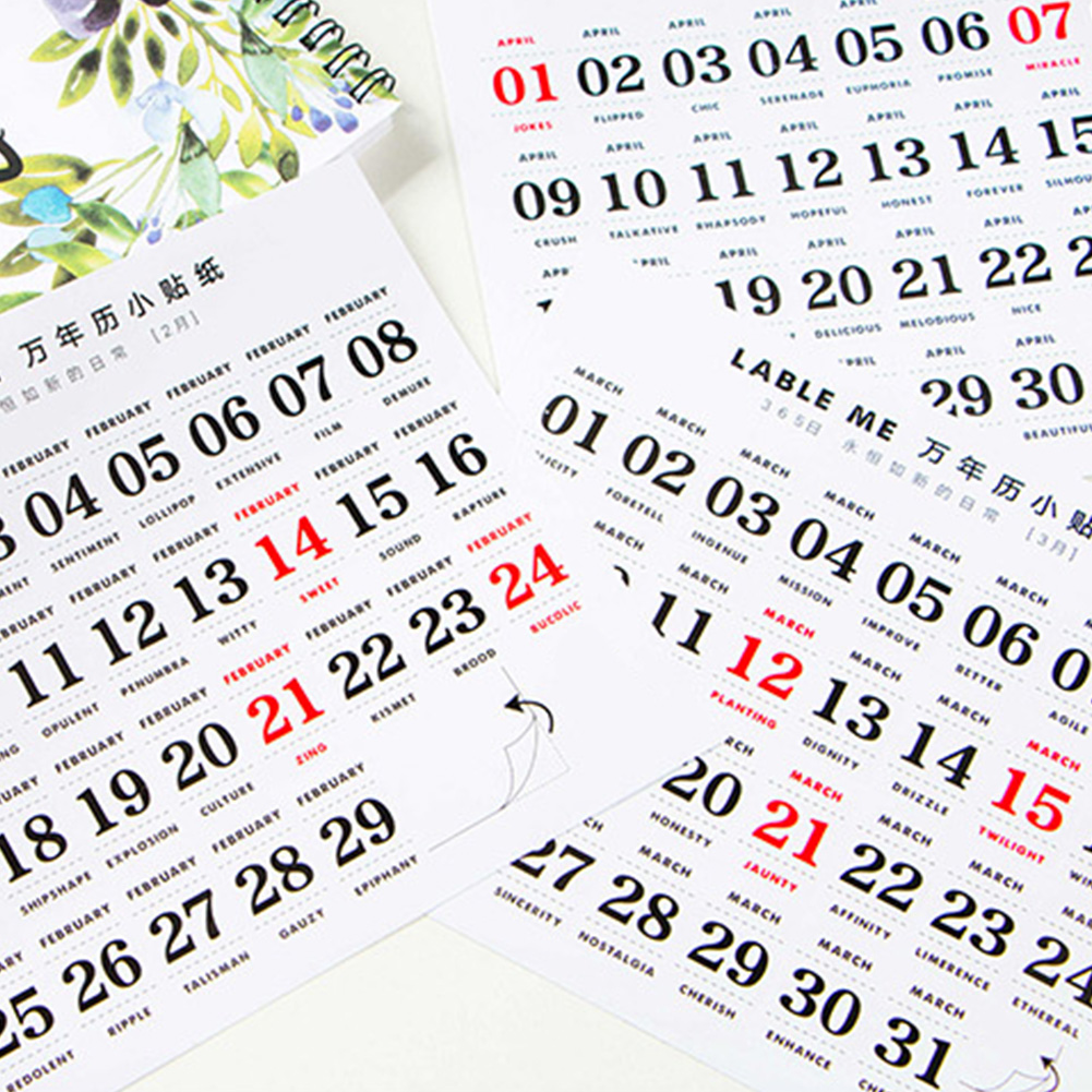 12 Sheets Perpetual Calendar Labels Paper Self Adhesive Home Dates Small Sticker For Notebook Journal Decorations Memo Reminder12 Sheets Perpetual Calendar Labels Paper Self Adhesive Home Dates Small Sticker For Notebook Journal Decorations Memo Reminder