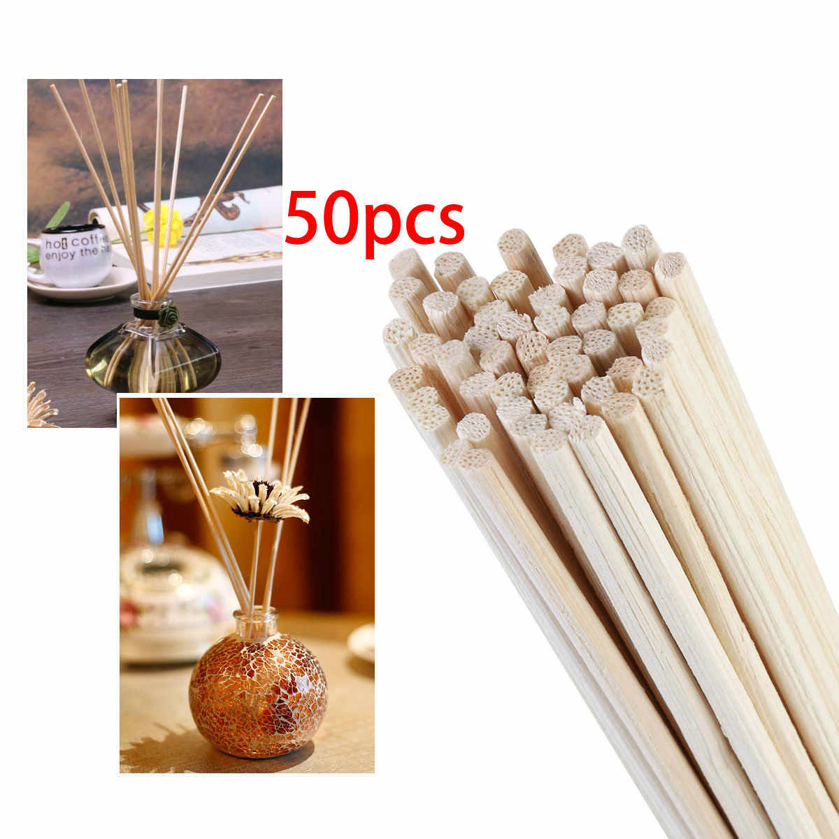 50pcs Aroma Diffuser Replacement Rattan Reed Sticks