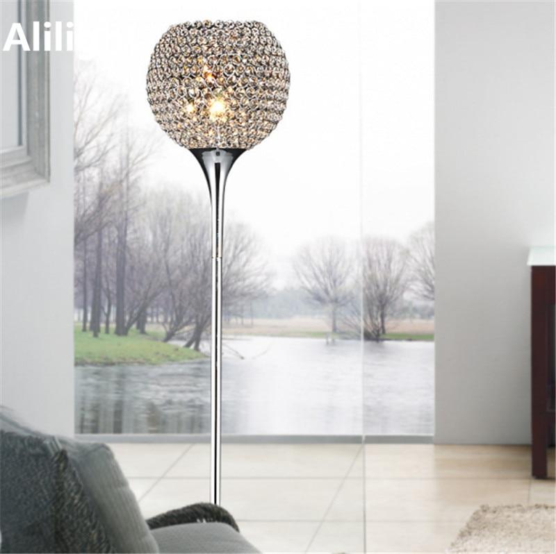 Floor Lamp Silver Gold Led E27 Lamps