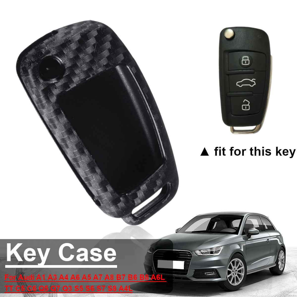 Luxury One-button Start Hard Smart Key Case Cover fit Audi A5 A3 A4 S4 S5 S6 Q5