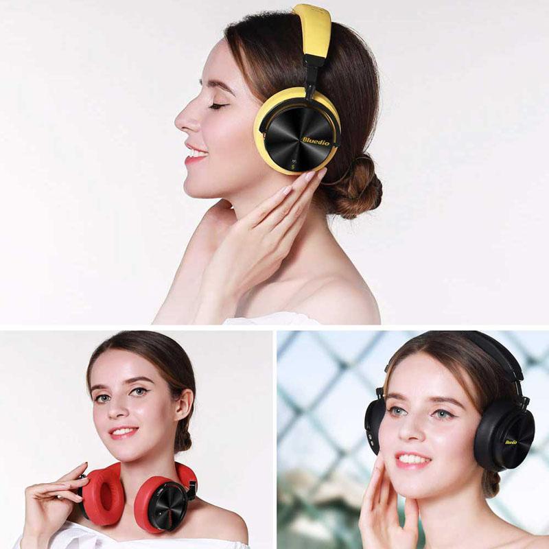 Nouveau casque de mode Bluedio réduction de bruit Active casque de sport sans fil Bluetooth casques stéréo portables basse avec micro - 5
