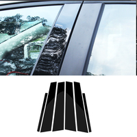 For BMW 1 3 5 7 Series F30 F07 F10 X3 F25 X5 E70 F15 X6 F16 Glossy Black Window B pillars Mouldings Cover Trim