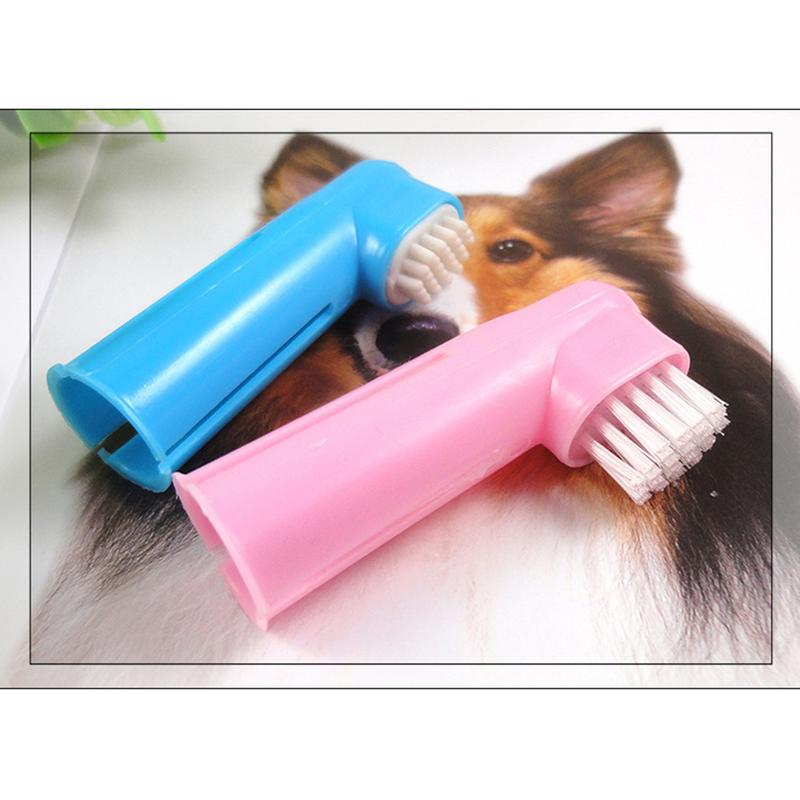 2pcs Dog Finger Toothbrush Pet Does Not Hurt Teeth Cleaning Toothbrush Dog No Dead Angle Cleaning Toothbrush