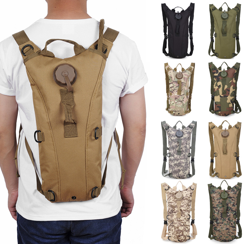 3L Tactical Hydration Pack Cycling Camel Water Bladder Bag SY