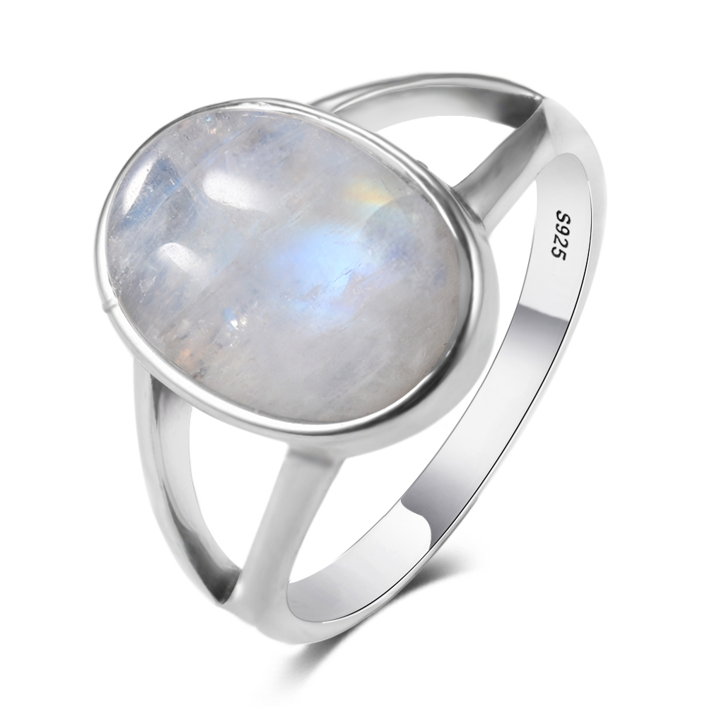 Original Natural Moonstone Cab Gemstone 925 Sterling Silver Jewelry Rings Handmade Vintage Indian Jewelry For Women Men Girls