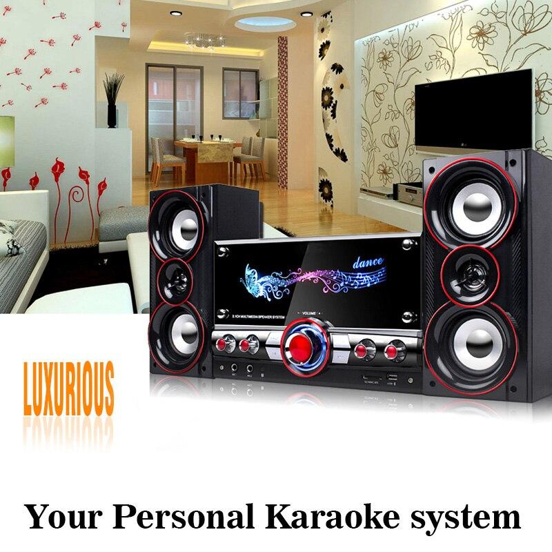 Вечерние беспроводной система Hi Fi караоке bluetooth устройств 3D Surround Sound музыкальный центр системы для расслабления себя колонки