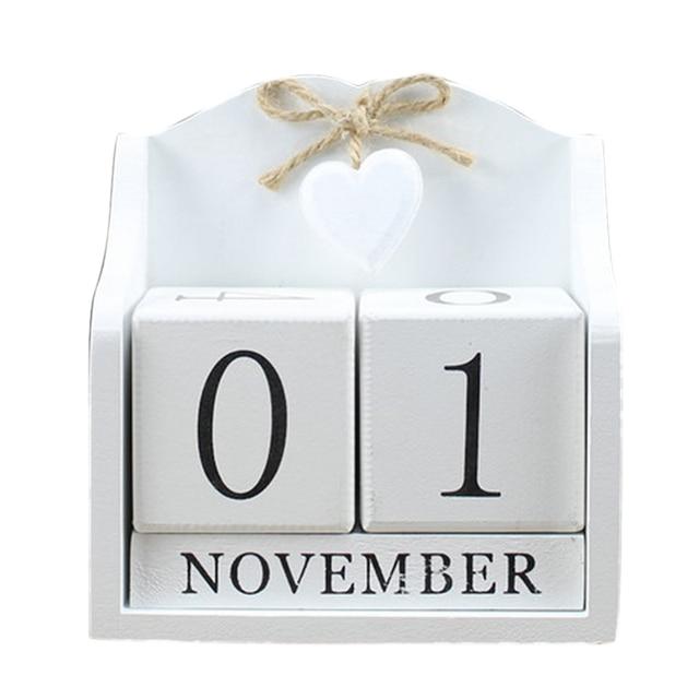 2019 креативный Настольный календарь с вечным календарем «сделай сам», календарь с деревом, модное украшение для дома и офиса, подарок белый