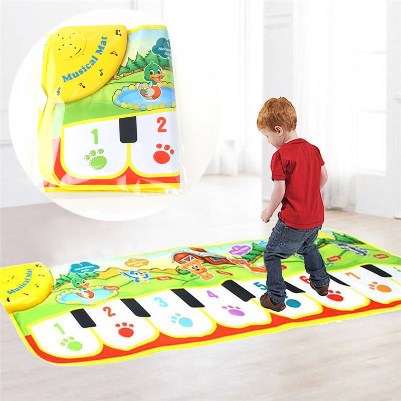 90cm*27cm Children's Piano Blanket Baby Game Rug Pad Crawling Floor Mat Blanket Activity Kid Touchable Piano Carpet For Kids