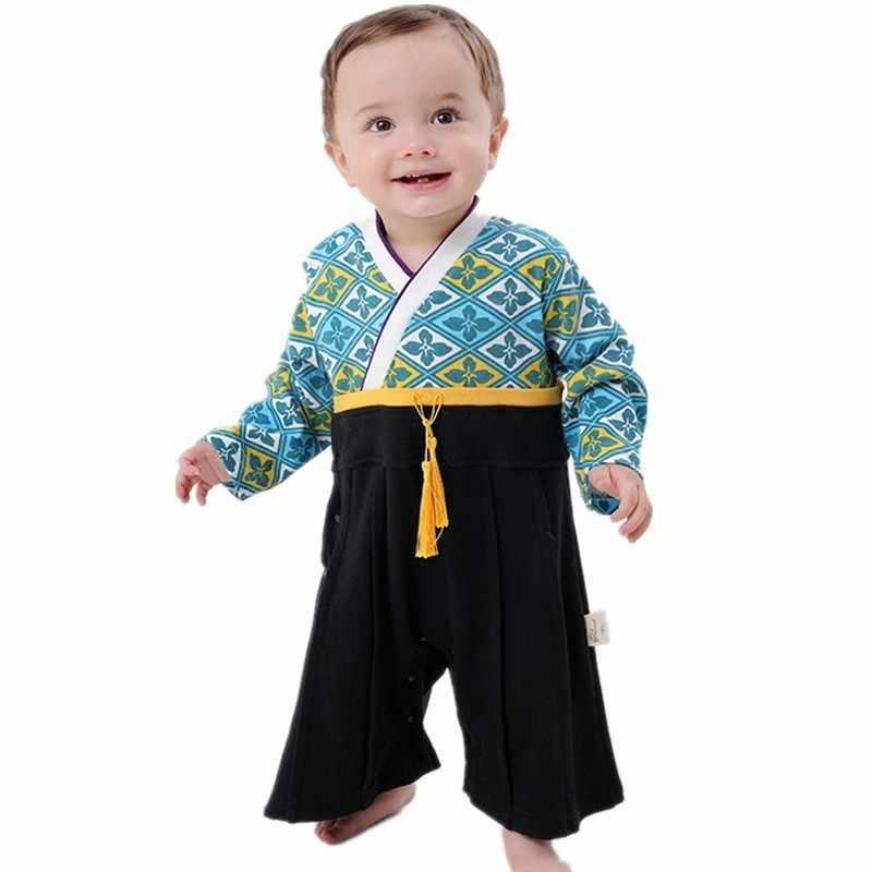 7b1154a79 Baby Boys Girl Boy Japanese Kimono Romper Birthday Infant Kids Costume  Traditional Children Clothing 9-