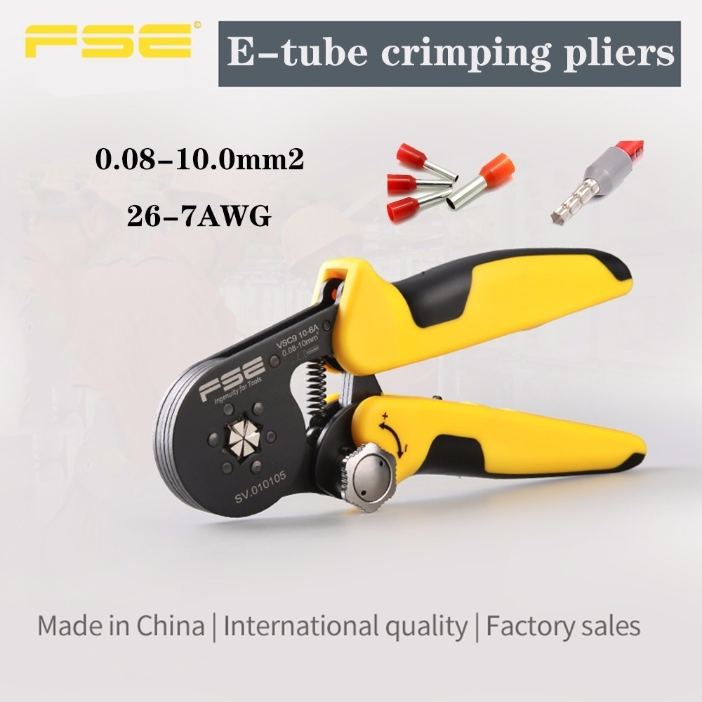 Vsc9 10 6a 0 08 10mm 24 7awg Adjustable Precise Hexagon Tube Bootlace Terminal Crimping Pliers