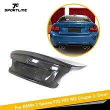 Для BMW F22 F87 M2 База купе M Спорт 2 двери- углеродного волокна задний спойлер багажника КРЫЛО багажника губ