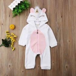 Новорожденных для маленьких девочек мультфильм крылья фланелевый комбинезон с капюшоном Детские Комбинезоны Детская одежда зимние От 0 до