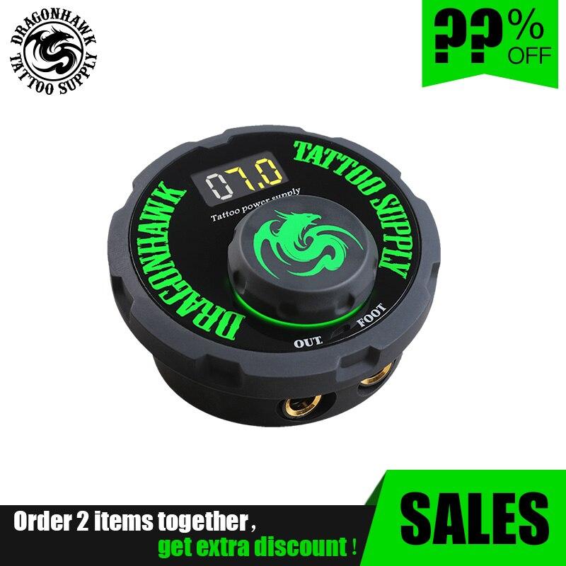 Dragonahawk Mini Power Box Tattoo Switch Digital LCD Tattoo Machine Power Transfer Box Supply