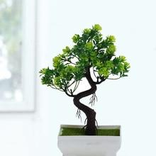 Поддельные искусственные растения пластиковые бонсай цветок Свадебный офис Домашний декор имитация горшечных растений дерево цветок