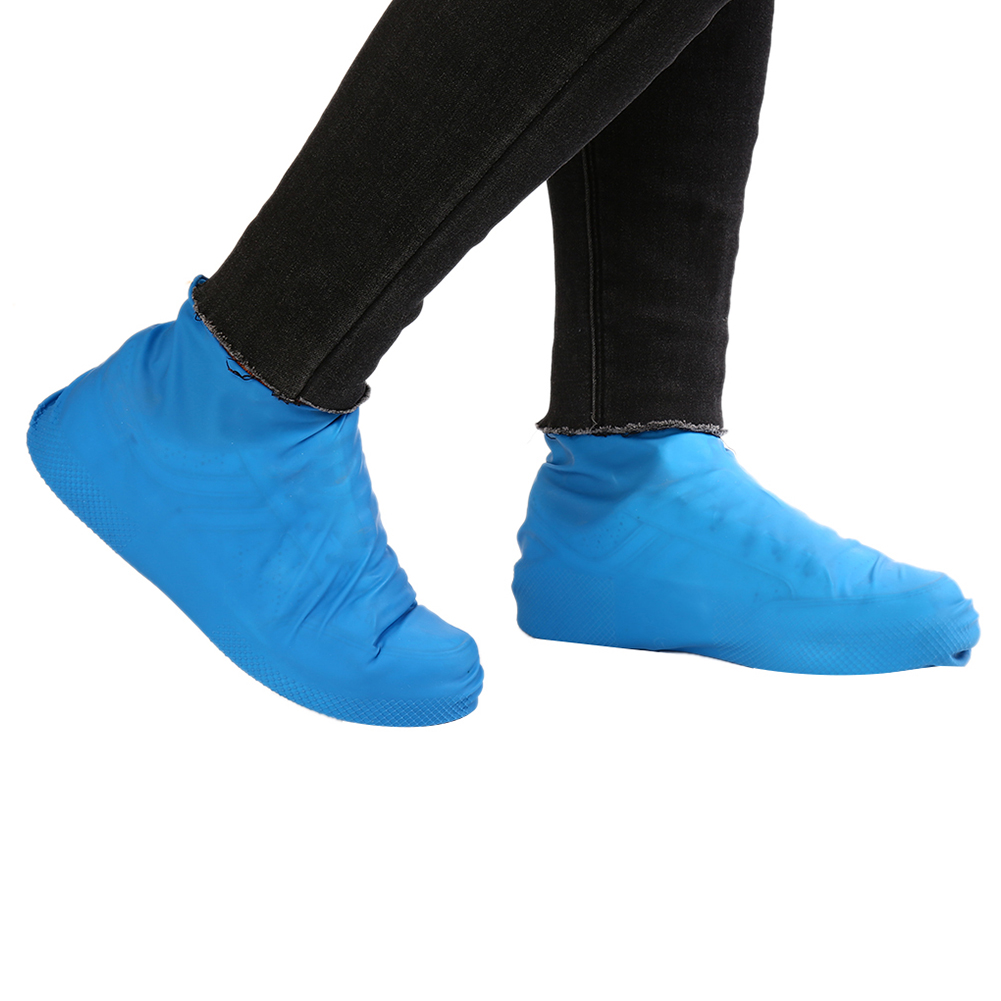 1 Paar Schuhe Abdeckungen Mehrweg Latex Wasserdichte Schuhe Abdeckungen Slip-beständig Gummi Regen Schnee Stiefel Hohe Qualität Schuhe Abdeckungen Schwarz