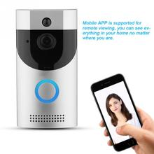 hot deal buy door bell wifi wireless smart intercom doorbell door bell viewer wifi video doorbell visual recording home security black