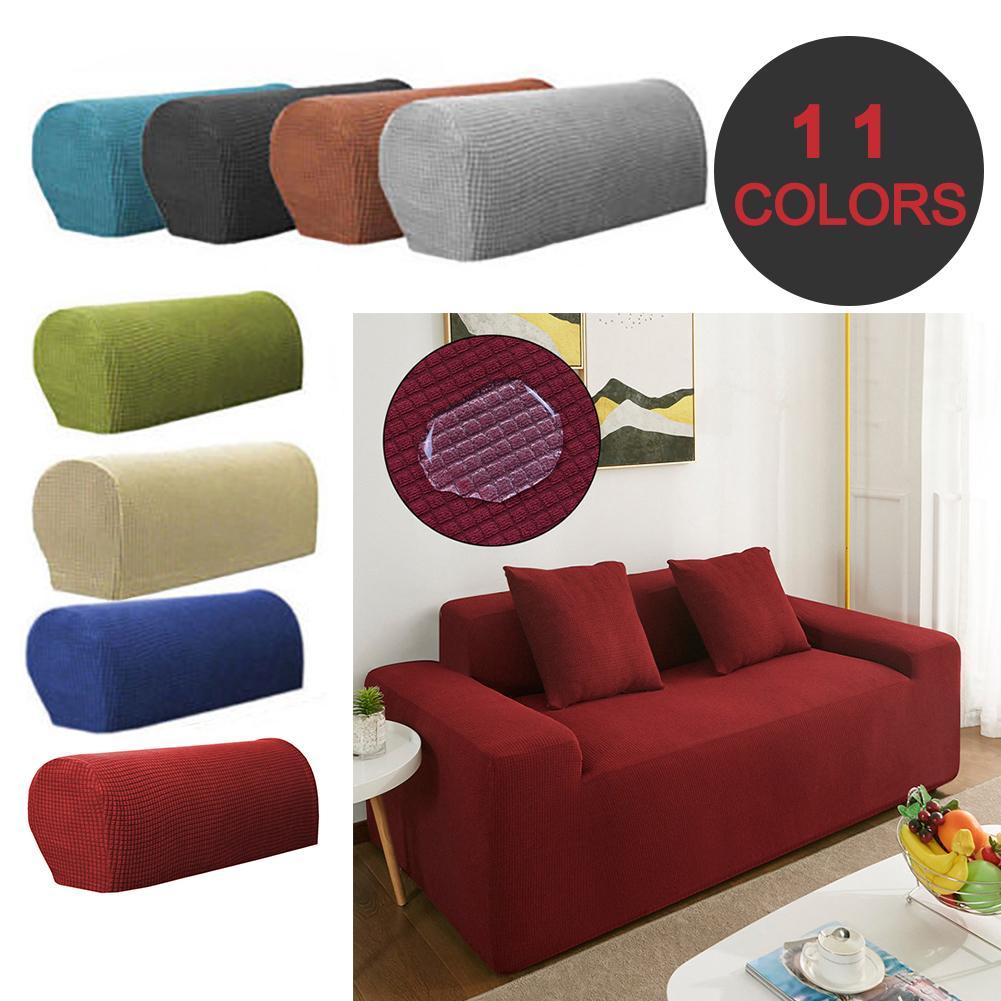 2pcs Furniture Sofa Armrest Cover Couch Chair Arm Case Mat
