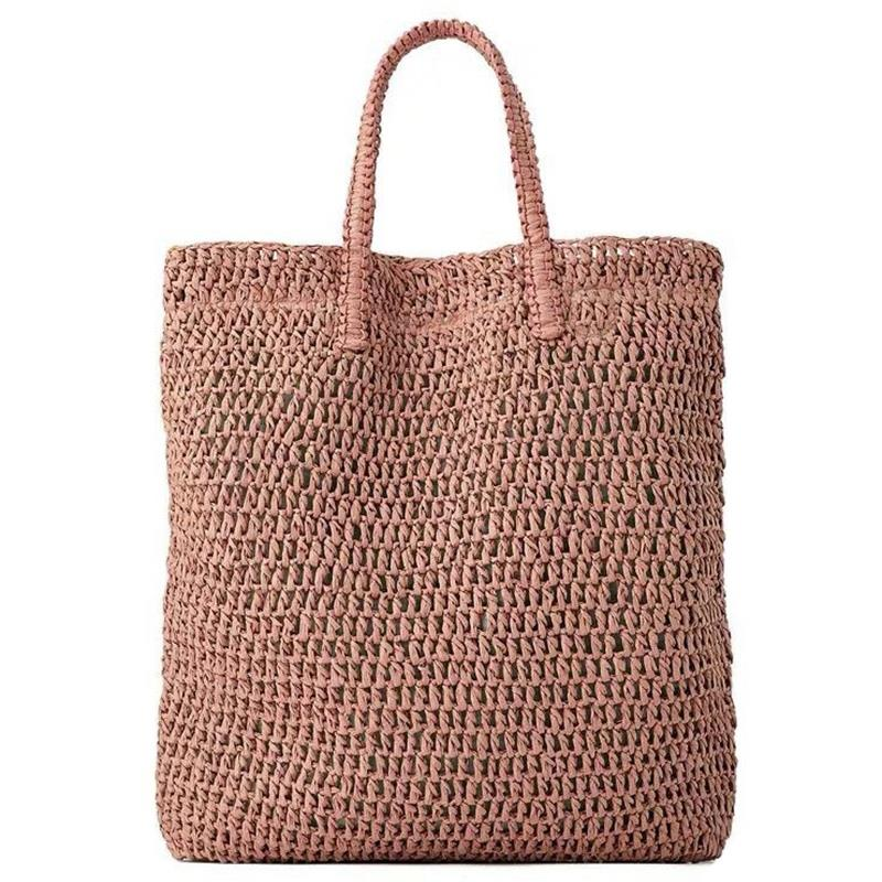 Women Handbag Summer Fresh Woven Handmade Grass Casual Tote Knitted Rattan Bags Beach Bag DesignerWomen Handbag Summer Fresh Woven Handmade Grass Casual Tote Knitted Rattan Bags Beach Bag Designer
