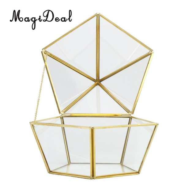Online Shop Magideal Glass Geometric Terrarium Tabletop Planter For