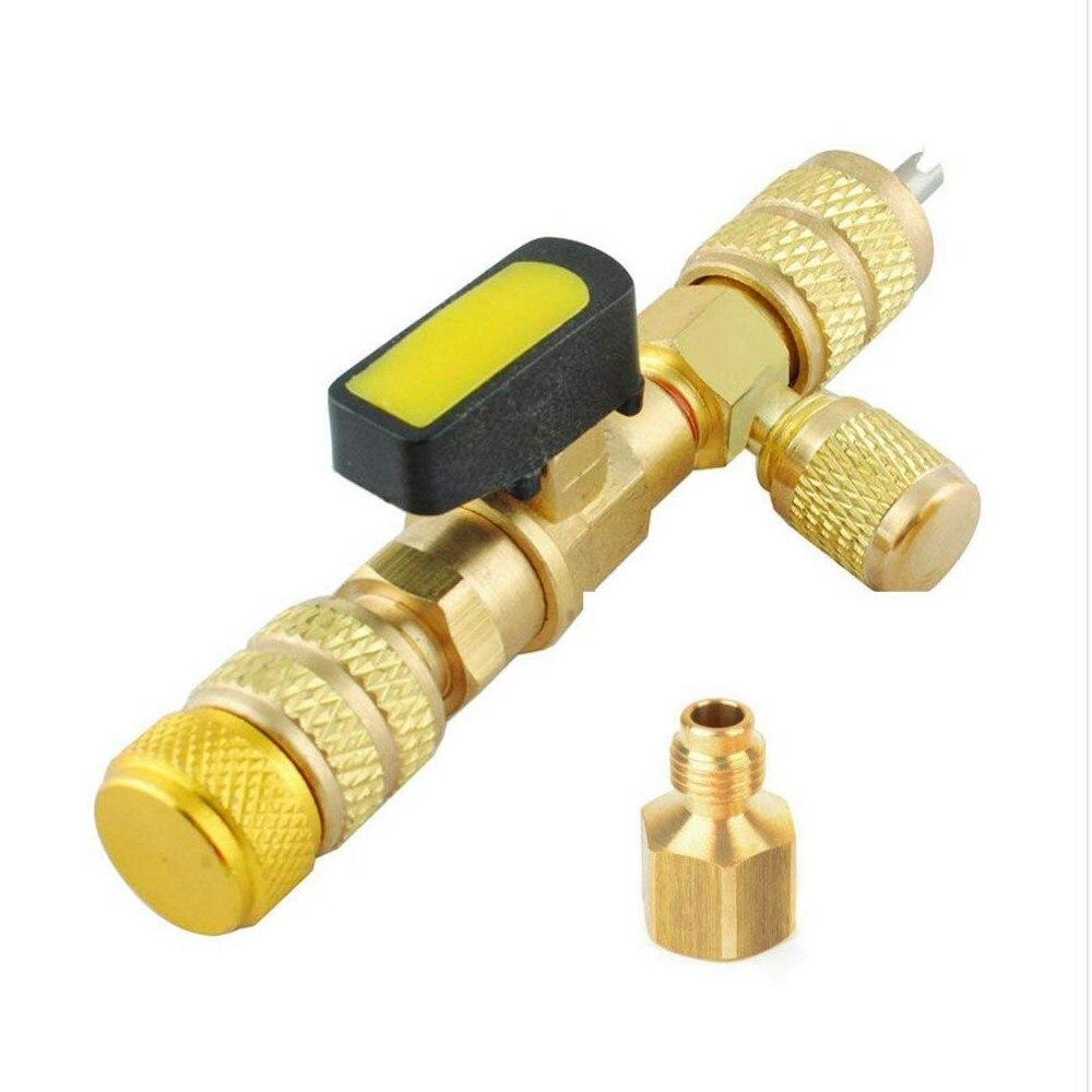 Ferramenta de instalação do núcleo da válvula hvac da porta do sae de tamanho duplo r410a r22 (sem perda de gás)