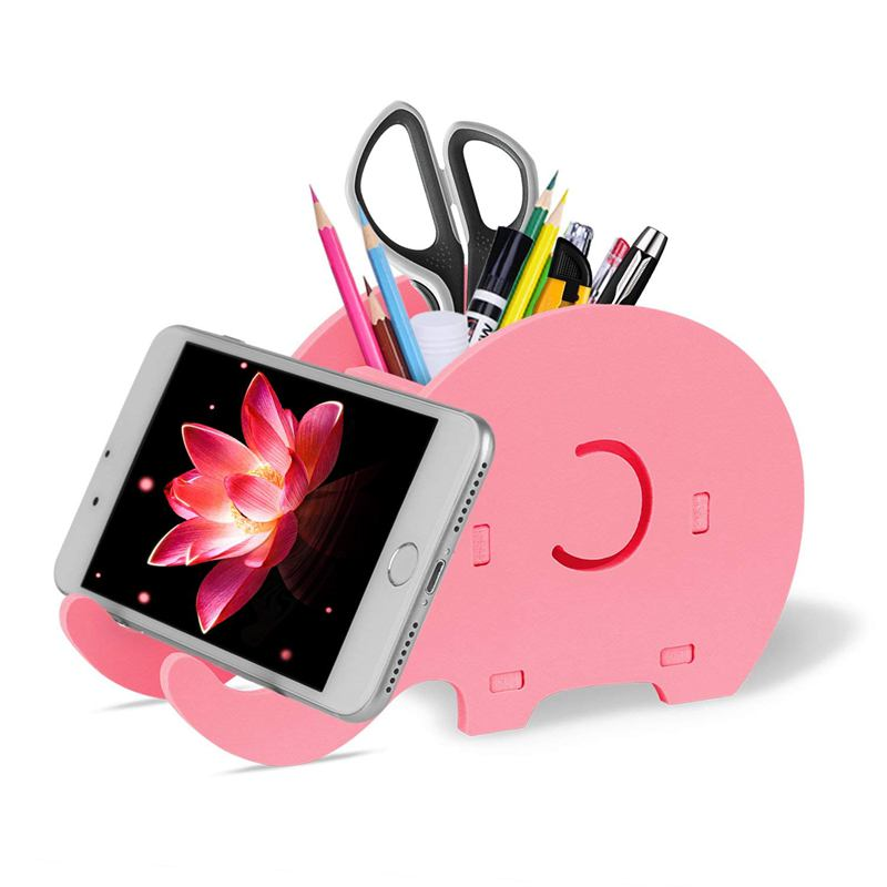 Generous Cell Phone Stand Cute Elephant Phone Stand Tablet Desk Bracket With Pen Pencil Holder Compatible Smartphone Desk Decoration Mu Desk Accessories & Organizer Office & School Supplies