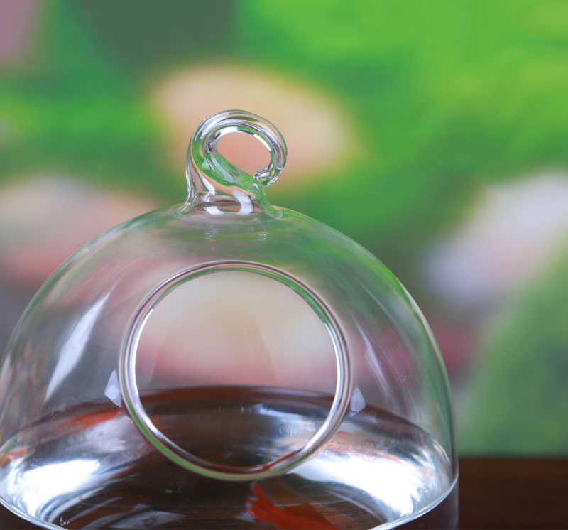 Mrosaa горячая Распродажа стеклянная подвесная аквариумная рыбка бачок чаша цветочное растение ваза настольная Рыбная чаша высота 15 см для Betta рыба товары для домашних животных